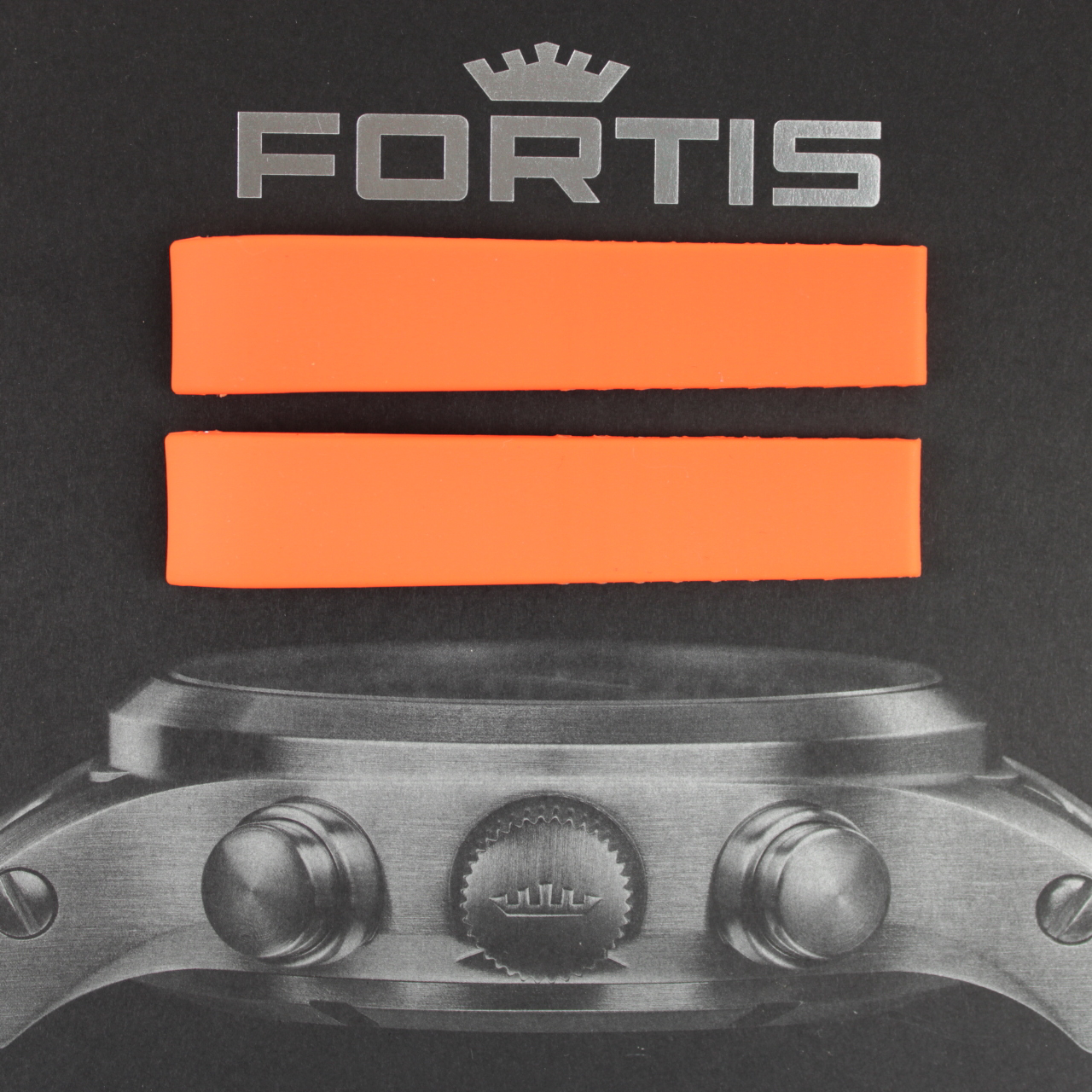 Fortis Silikonband mit integrierten Anstoß orange