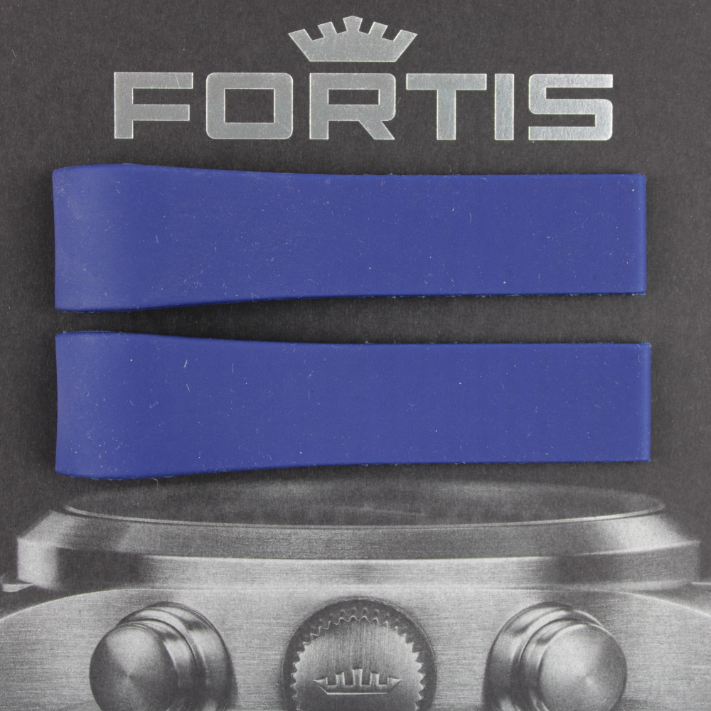 Fortis B-47 Silikonband mit integrierten Anstoß blau