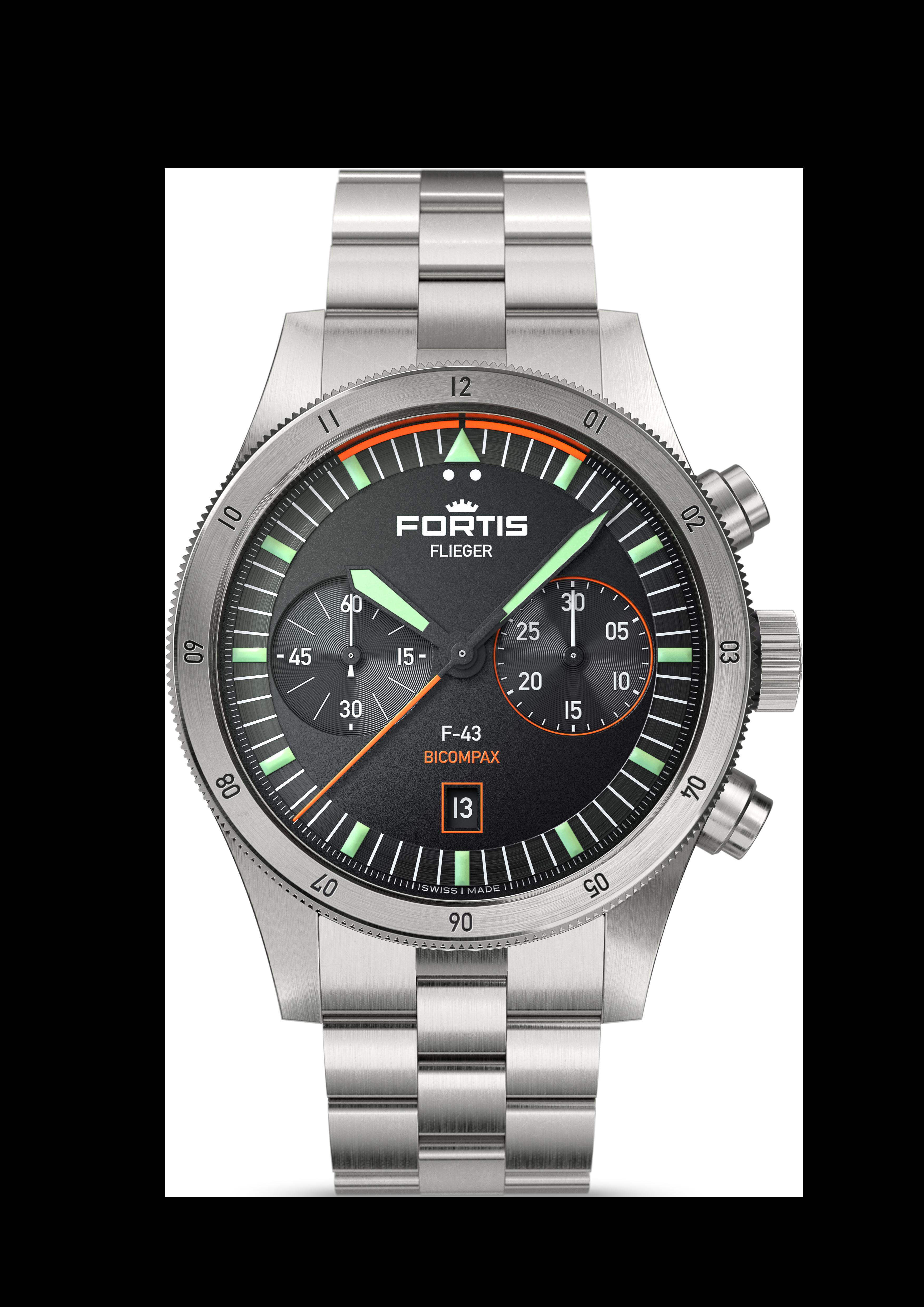 Fortis FLIEGER F-43 BICOMPAX, Ref. F.424.0004